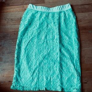 Honey and Lace skirt mint green pencil style XS